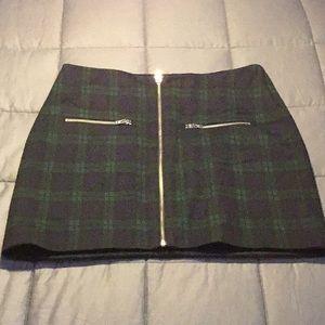 Made well mini-skirt, plaid, tartan.